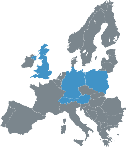 Axia Plastics distribution map